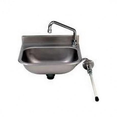 Lave main avec robinet mélangeur inox